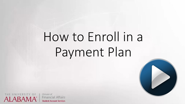 How to enroll in a payment plan video link