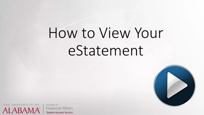 How to view your eStatement